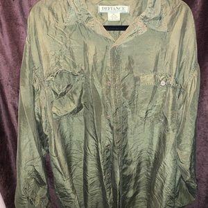 silk button up shirt